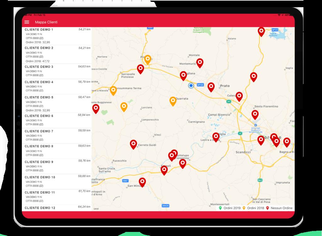 Geolocalizzazione Near App Vendita