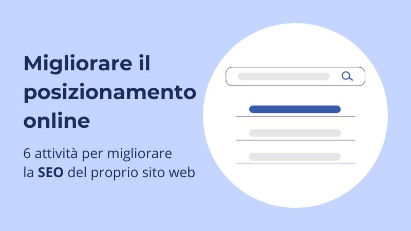 Migliorare il posizionamento SEO del proprio sito web o shop online